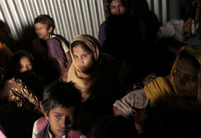 孟加拉難民營內的羅興亞婦女。(美聯社)