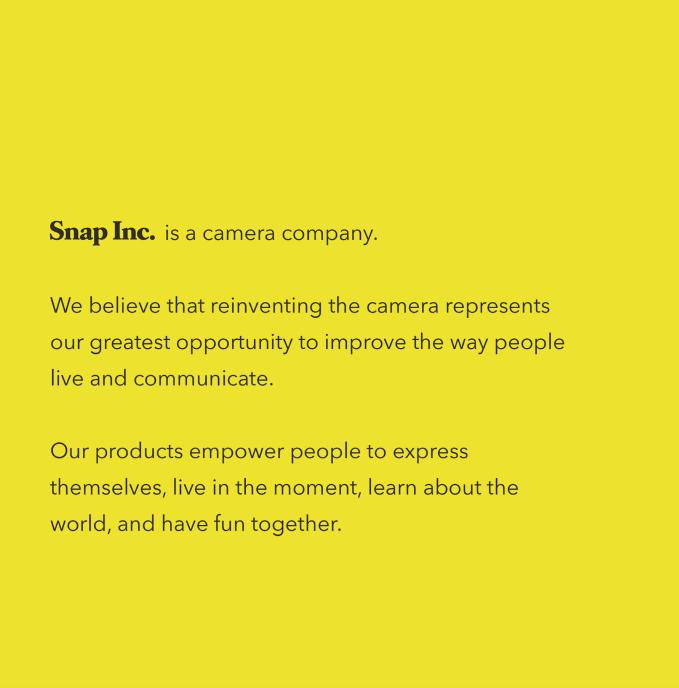(Snap公開招股書說明Snap是一家相機公司。來源:SEC) 林意凡提供