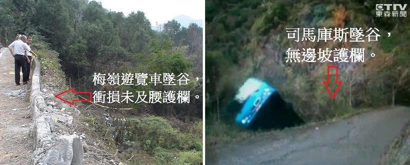 幾次重大車禍顯示護欄並未發揮作用。(作者提供)