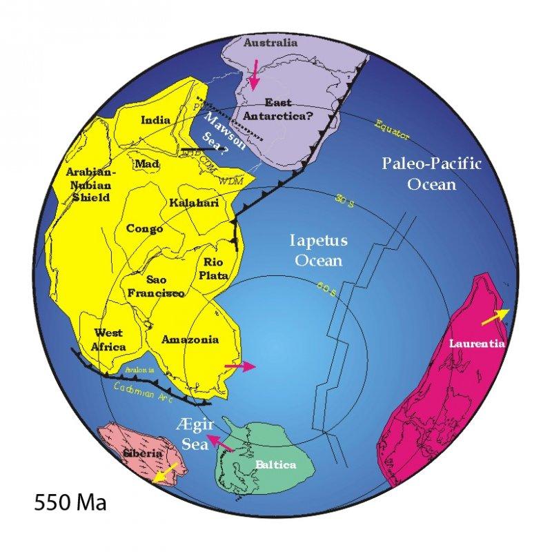 岡瓦納大陸示意圖。(圖/維基百科公有領域)
