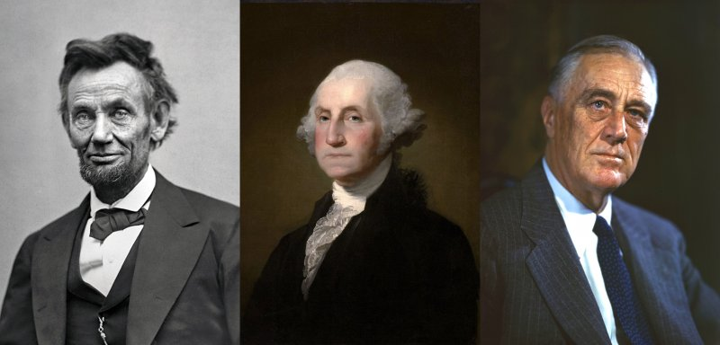 左起:林肯、華盛頓、羅斯福(Wikipedia / Public Domain)