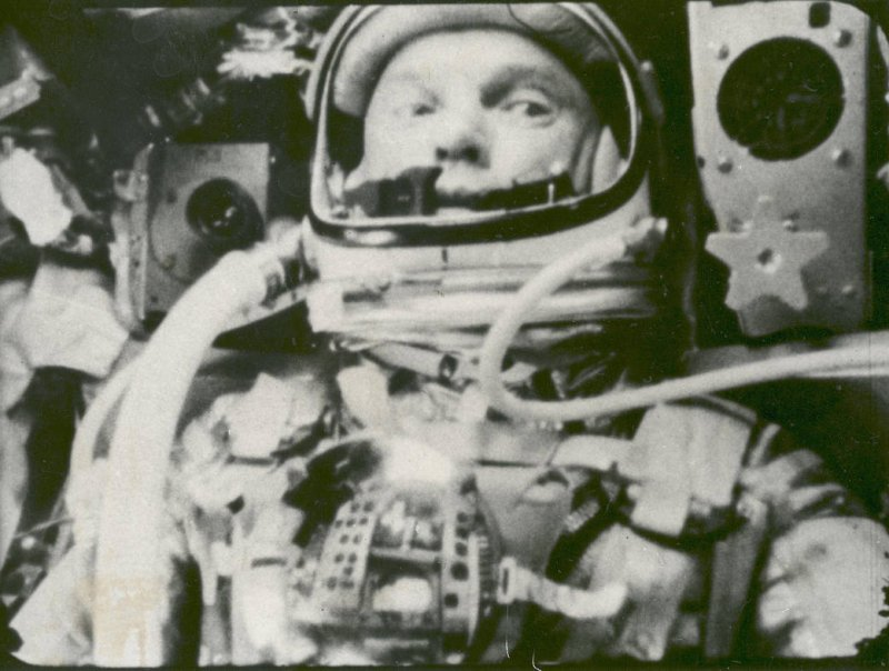 第一個繞行地球軌道的美國人葛倫。(圖取自NASA)