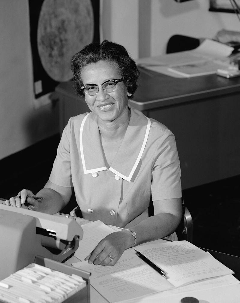 NASA非裔女科學家凱薩琳.強生(Katherine Johnson)。(wikipedia/public domain)