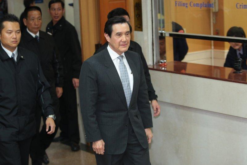20170221-前總統馬英九21日因違反通保法至台北地院出庭。(顏麟宇攝)