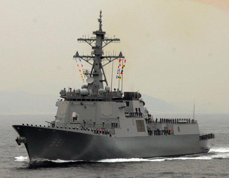 南韓世宗大王級神盾驅逐艦。(圖/維基百科公有領域)