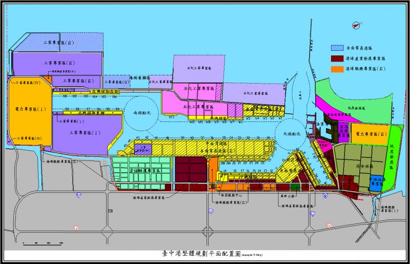 台中港務局決定劃出5A5B港區給台電規劃水上塔架重件碼頭。(取自台中港務局網站)