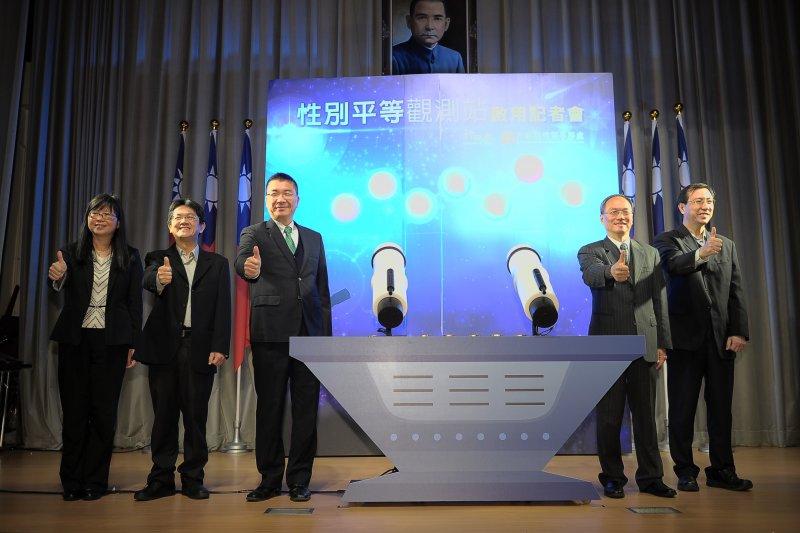 20170309-「性平觀測站」上線記者會,行政院性平處代理處長吳秀貞是唯一出席的女性官員。(行政院提供)