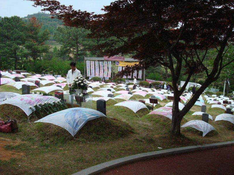光州事件犧牲者墓園。(圖/Rhythm@wikipediaBYCC3.0)