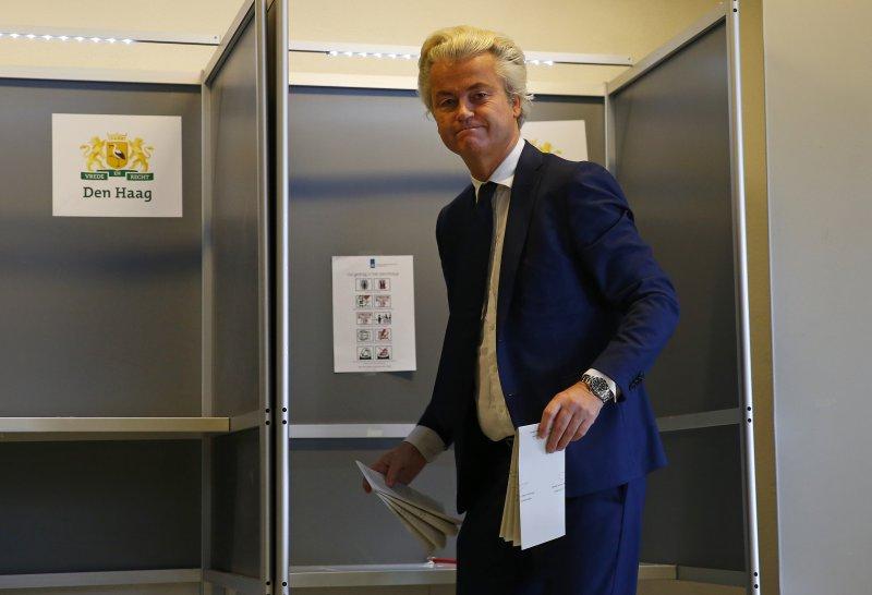 荷蘭大選。威爾德斯,荷蘭川普。(美聯社)