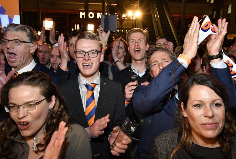 荷蘭大選。呂特,自由民主黨。(美聯社)