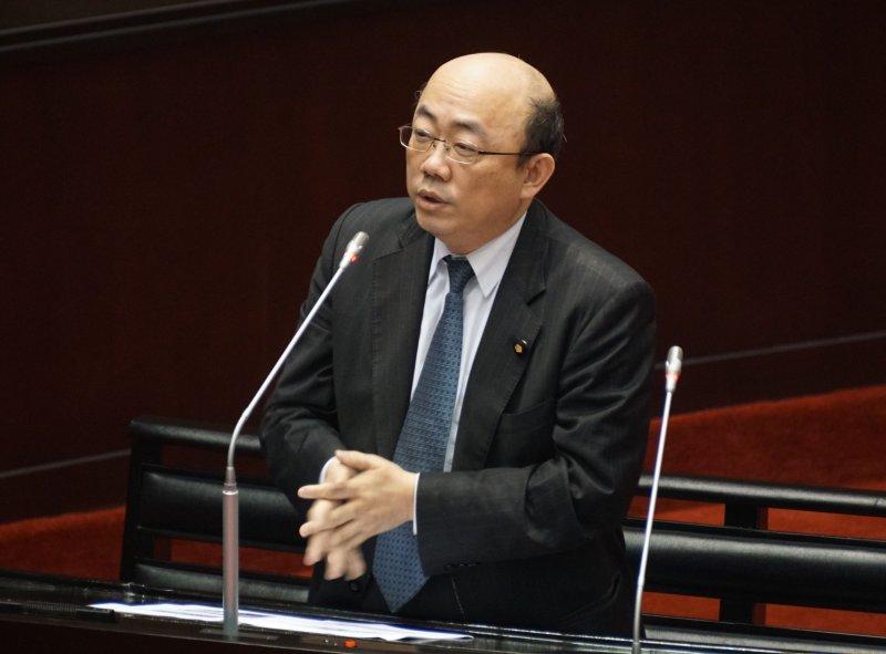 20170317-立法院院會,立委郭正亮質詢。(盧逸峰攝)