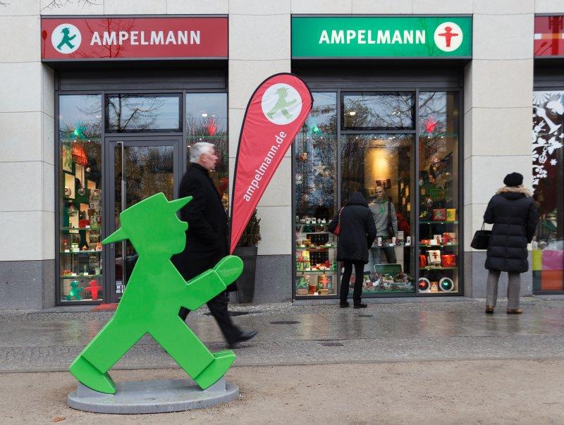 位於德國的小綠人商品展售店。(圖/Slaunger@wikipedia)