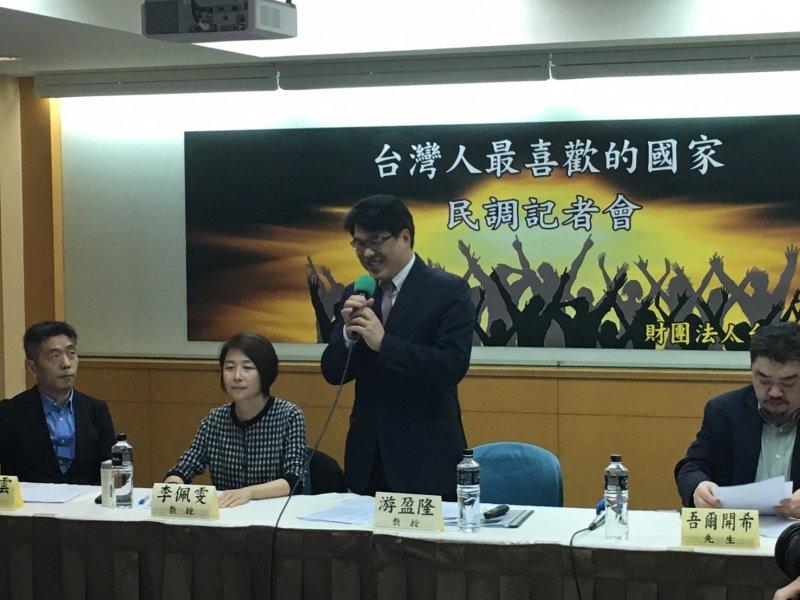 2017-03-20-台灣民意基金會召開「台灣人最喜歡的國家」記者會-游盈隆-王君瑋攝