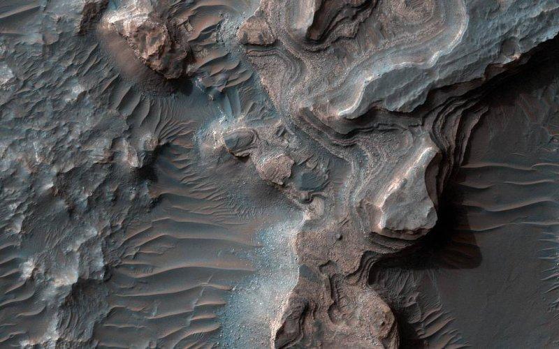 美國太空總署傳回的火星畫面。(NASA)