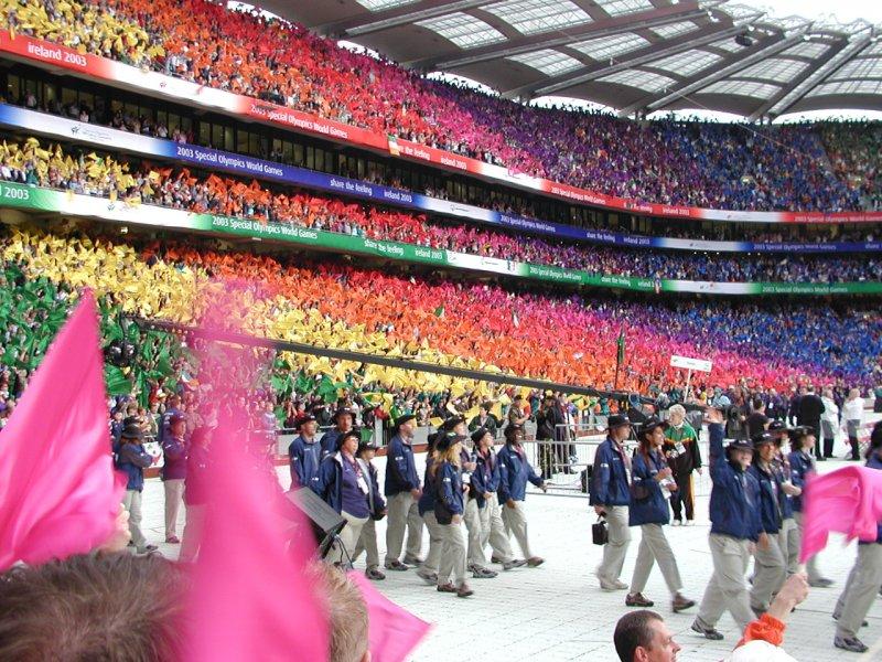 2003年於愛爾蘭都柏林舉辦的特奧。(圖/Mb.matt~commonswiki@wikipediaCCBYSA3.0)