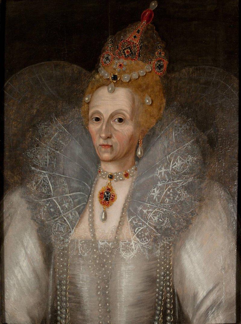 1595年的伊莉莎白一世(Wikipedia/Public Domain)