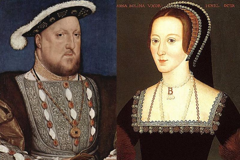 伊莉莎白一世的雙親:亨利八世與安柏琳(Wikipedia/Public Domain)