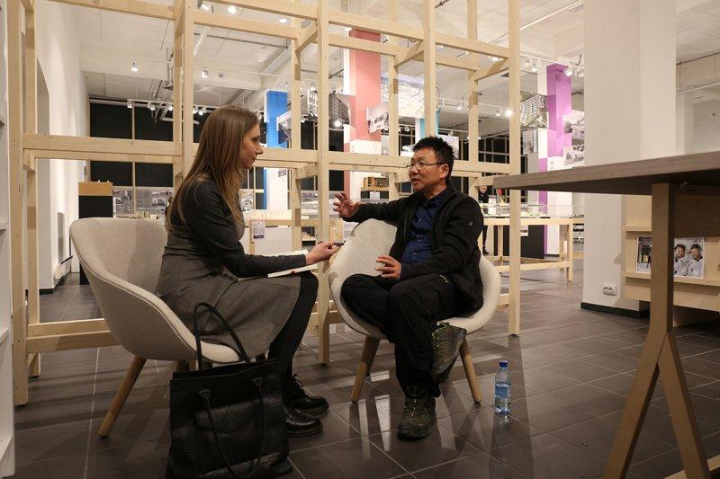 田中央愛沙尼亞專題-立陶宛建築師公會副會長露塔萊特南蒂訪談黃聲遠。(田中央聯合建築師事務所提供)