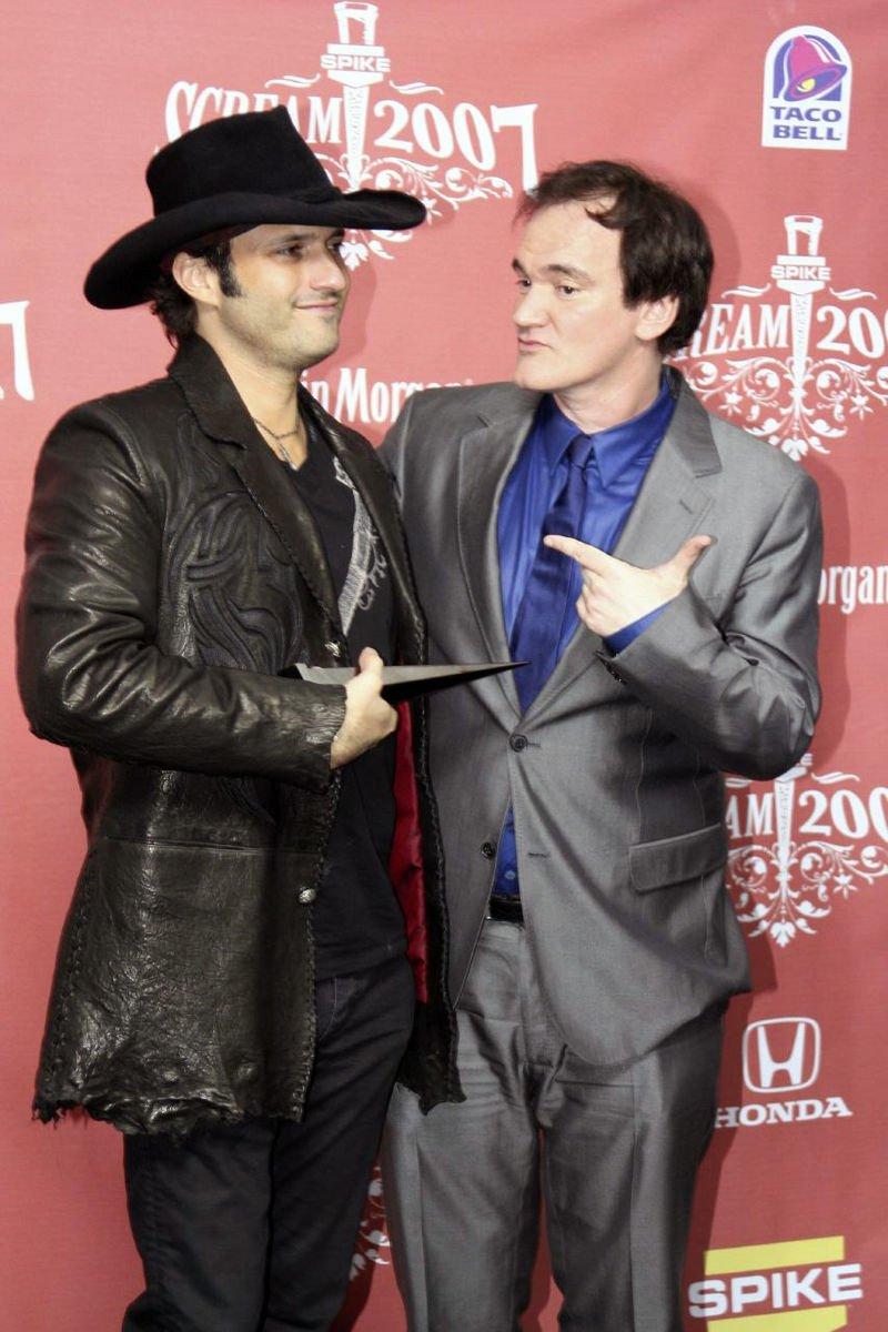 美國導演勞勃羅里葛茲(Robert Rodriguez)(左)與昆汀塔倫提諾(右)。(pinguino k @wikipedia/CC BY 2.0)