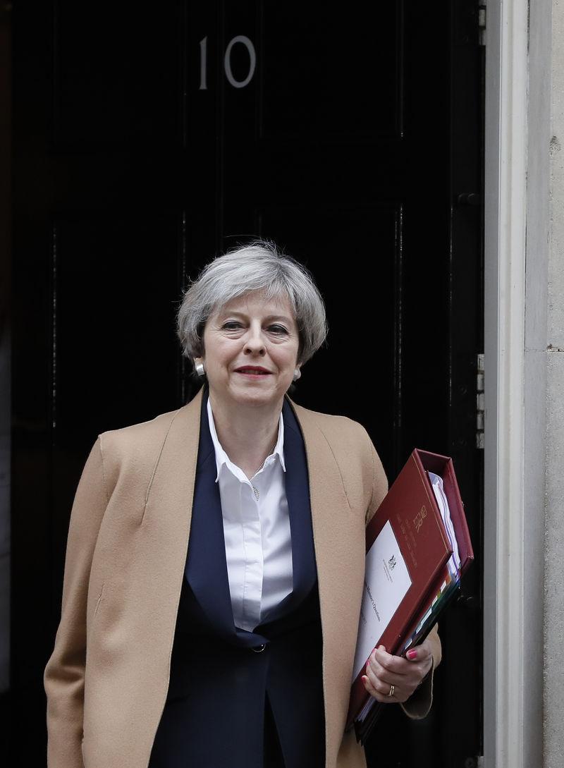 英國首相梅伊29日正式啟動《里斯本條約》第50條,開啟脫歐程序(AP)