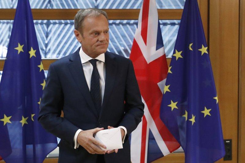 歐洲理事會主席圖斯克說,談判很艱難,但不會演變成戰爭。(美聯社)