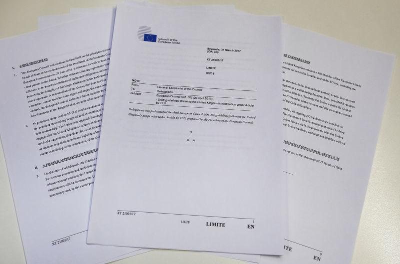 脫歐談判綱領草案中提到,若西班牙就直布羅陀爭議沒獲得滿意結果,未來的英歐貿易協定將不適用直布羅陀(AP)