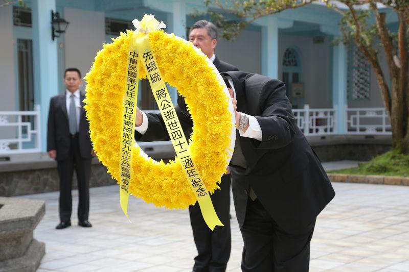 20170405-前總統馬英九5日至慈湖謁陵。(顏麟宇攝)
