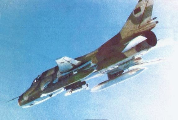 敘利亞空軍的Su22戰鬥機。(維基百科公有領域)