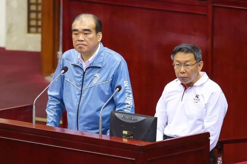 201704012-台北市警察局長邱豐光12日於市議會備詢。(顏麟宇攝)