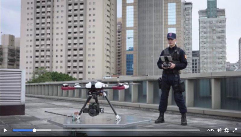 2017-04-14,警用無人機(取自 智慧警政 行動警察 I.M.Police臉書)