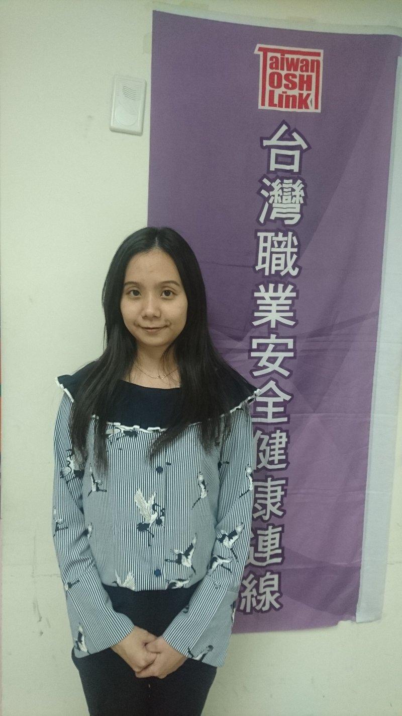 台灣職業健康安全連線執行長黃怡翎。(黃天如攝)
