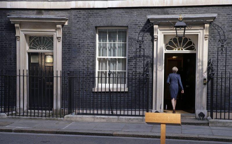 英國首相梅伊突宣布將在6月初提前舉行大選。(美聯社)