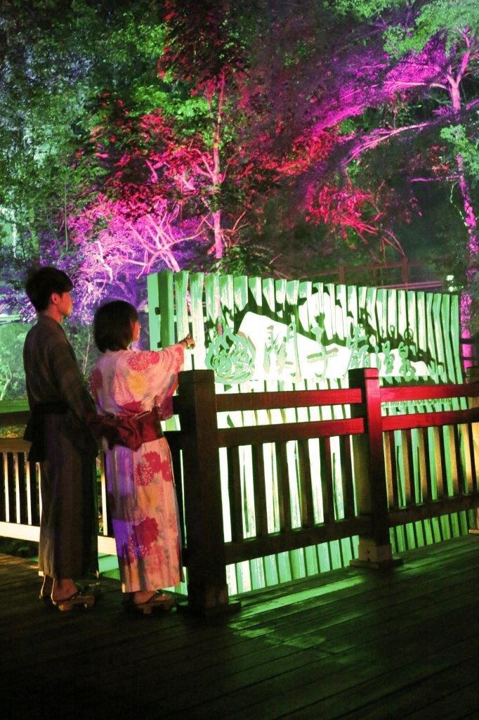 關子嶺之戀、溫泉鄉的吉他台灣老歌和光雕音樂藝術秀相互輝映。(圖/西拉雅管理處提供)
