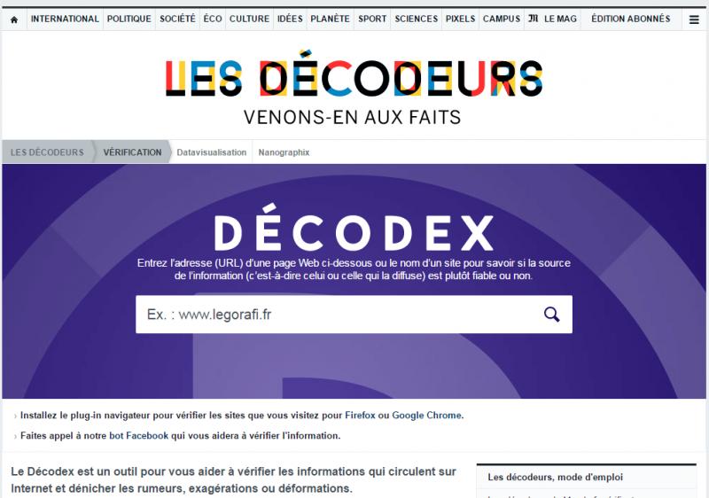 大選網路謠言太多,法國推出事實查核網站Decodex。(圖/取自網路)