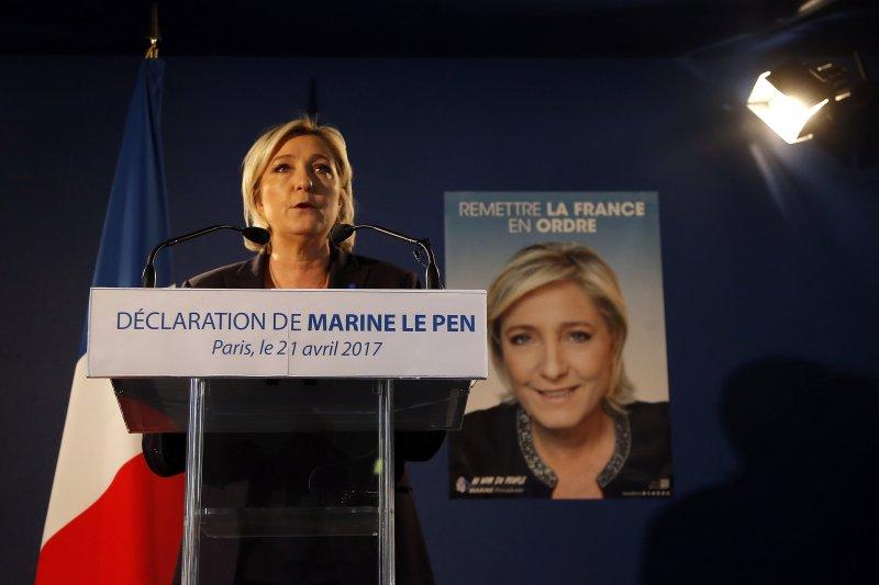 法國總統大選,民族陣線,勒潘,極右派。(美聯社)