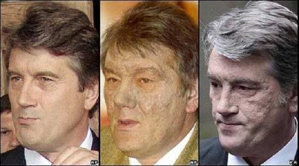 前烏克蘭總理Viktor Yushchenko戴奧辛中毒,十多年後,他依舊健在,儘管略見蒼老但基本恢復帥氣。(作者提供)