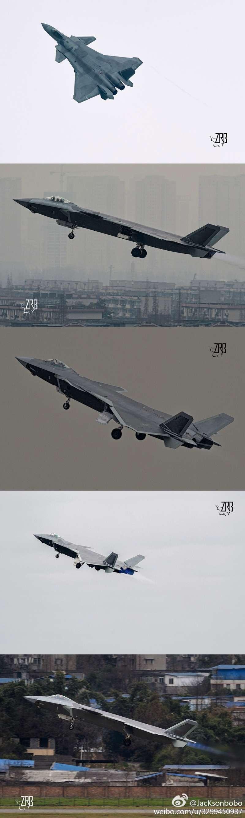 殲-20(翻攝微博)