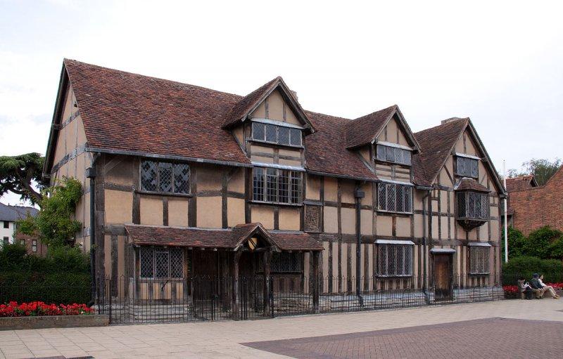 莎士比亞出生的房子,現改建為紀念館(Tony Hisgett@Wikipedia/CC BY-2.0)