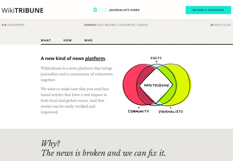 《維基論壇報》的介紹,希望帶動如維基百科的共同寫作機制。(圖/取自維基論壇報)