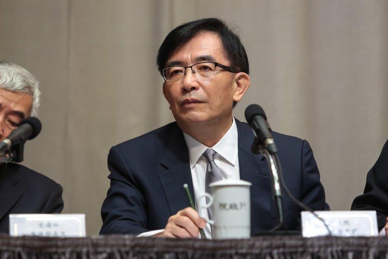 20170427-政務委員吳宏謀27日出席行政院會後記會。(顏麟宇攝)