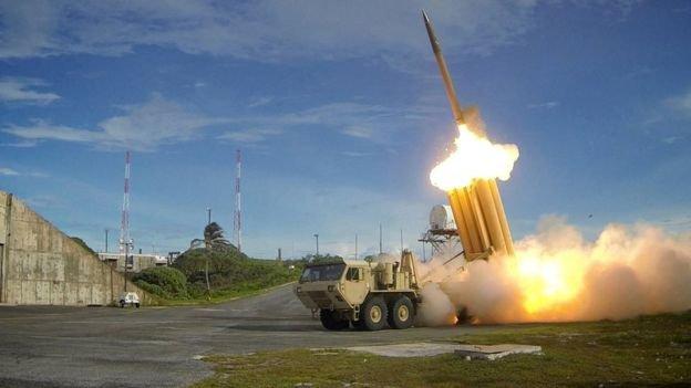 美軍進行薩德攔截導彈試驗發射現場。中國擔心薩德對其核武器系統構成威脅。(BBC中文網)