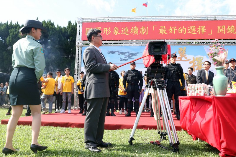 20170428-國防部下午舉行國軍形象劇「最好的選擇」開鏡儀式。(蘇仲泓攝)