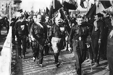 墨索里尼號召的「向羅馬進軍」。(維基百科公有領域)