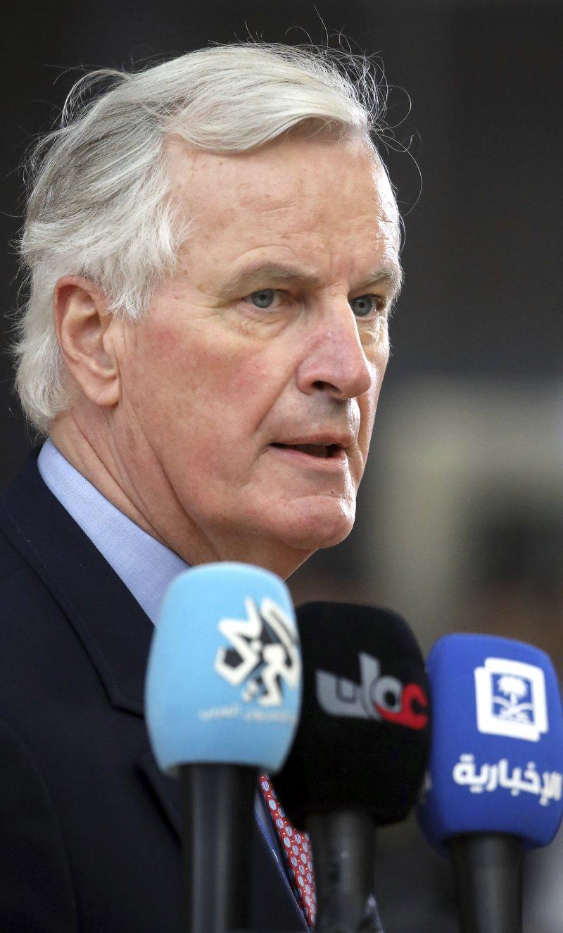 歐盟的脫歐談判首席代表巴尼耶(AP)
