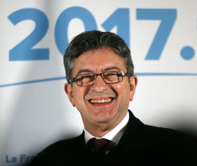梅蘭雄,2017法國總統大選。(美聯社)