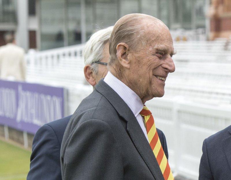 英國女王伊莉莎白二世(Queen Elizabeth II)的夫婿菲利普親王(Prince Philip),攝於2017年5月3日(AP)