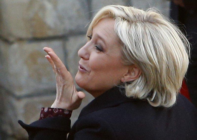 法國總統候選人勒潘對俄羅斯頗有好感,主張聯合俄國一起打擊伊斯蘭國。(美聯社)