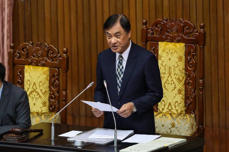 20170505-立法院長蘇嘉全5日於院會主持國是論壇。(顏麟宇攝)