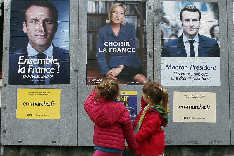 法國總統大選決戰將至,候選人馬克宏的團隊卻遭駭客攻擊。(美聯社)