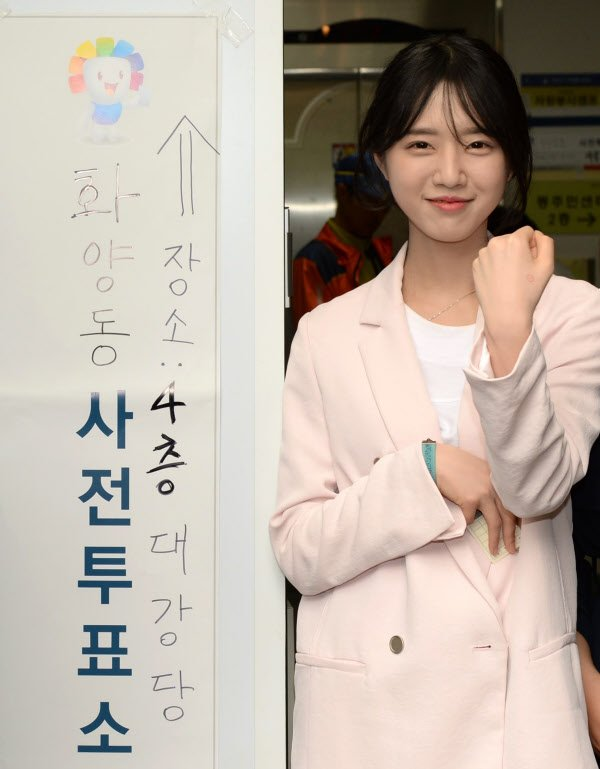 南韓總統候選人劉承旼的女兒劉垣。